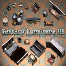 Fantasy Furniture Tokens III - Sample 01