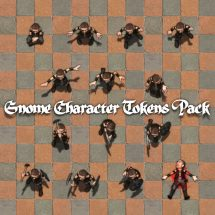 Gnome Character Tokens Pack