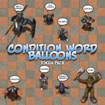 Condition Word Balloons Token Pack