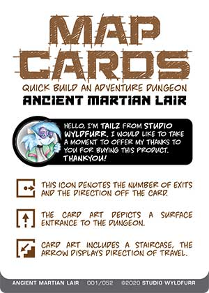 Map Cards: Ancient Martian Lair