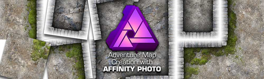 Adventure Map Creation with Affinity Photo