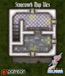 Stonework Map Tiles - Sample 0002