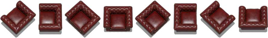 Object Set: Leather Chair