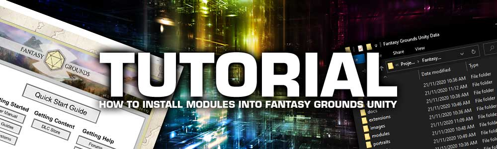 How to Install Modules into Fantasy Grounds Unity
