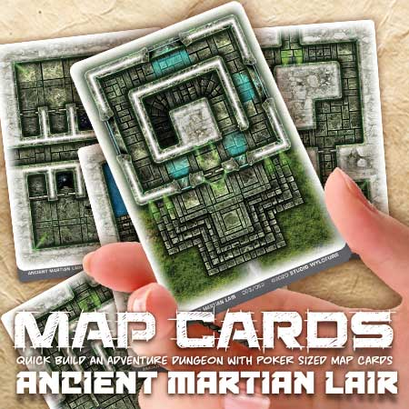 Map Cards - Ancient Martian Lair
