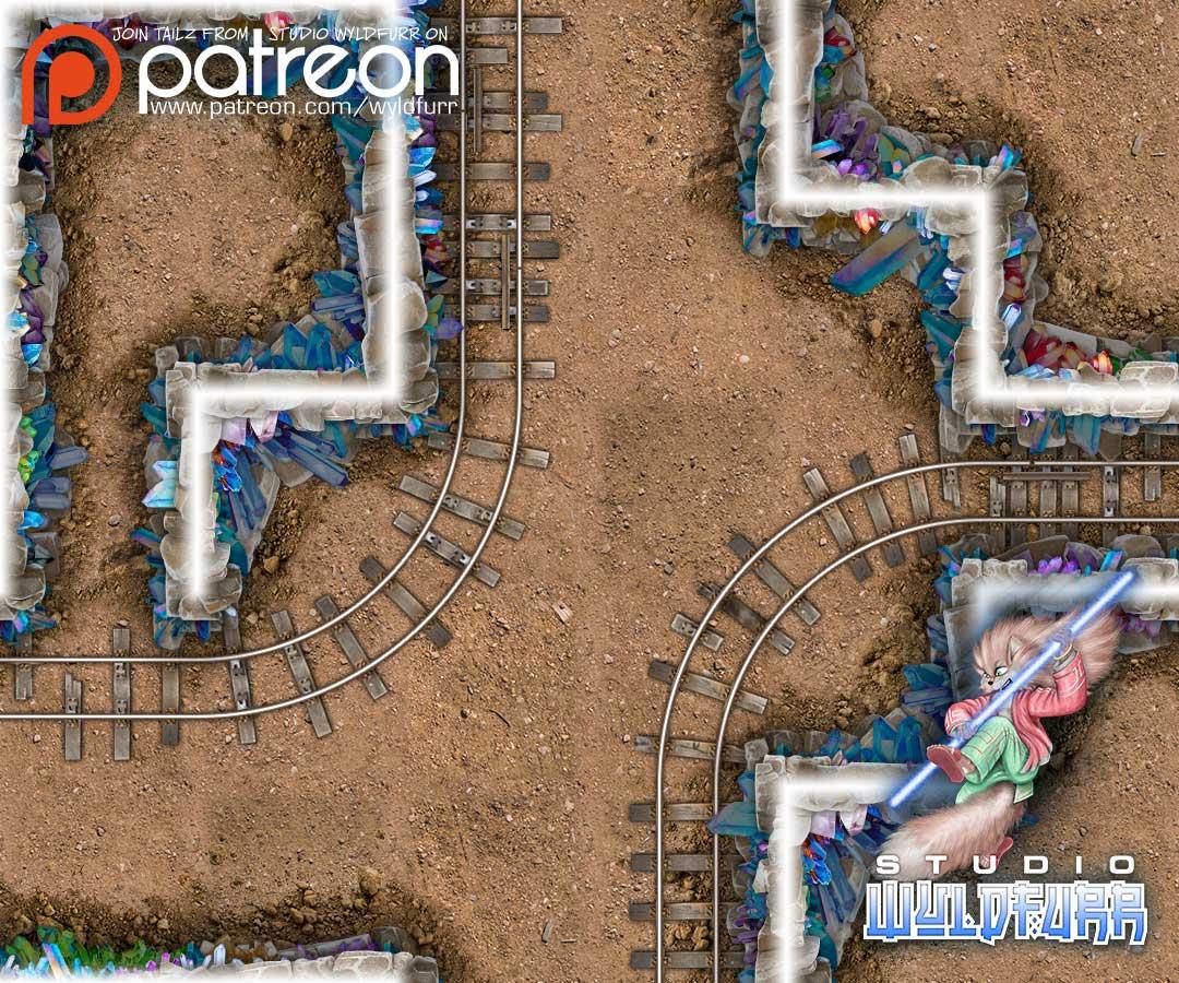 Crystam Mine Map Tiles Sample #2