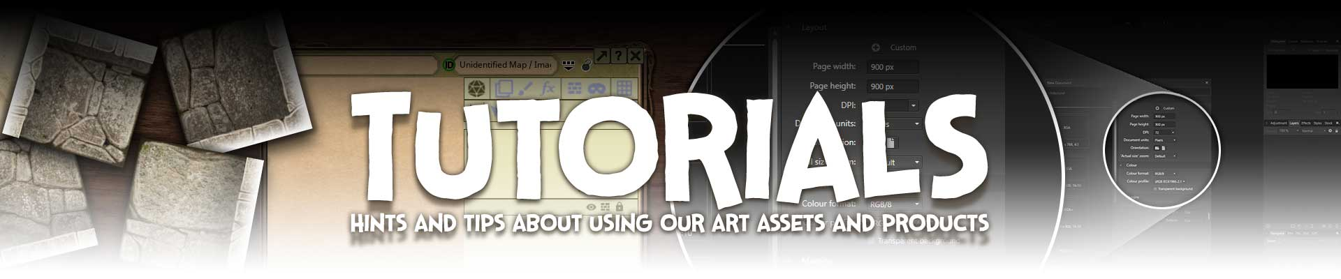 Tutorials - Hints and tips about using our art assets and products.
