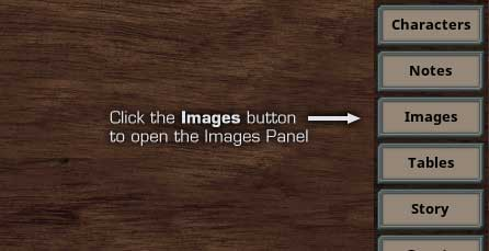 Click on the Images button to open the images panel