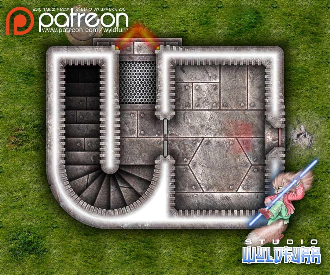 Steel Bunker Map Tiles Sample Art #2